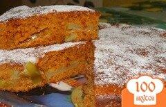 Фото рецепта: «Карамельный бисквит с яблоками»