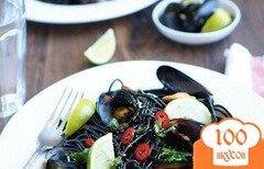 Фото рецепта: «Чёрная паста с мидиями»