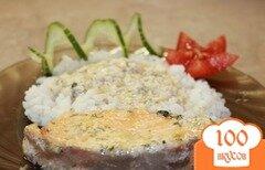 Фото рецепта: «Семга в сырно - сливочном соусе»