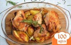 Фото рецепта: «Курица с картошкой в духовке»