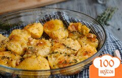 Фото рецепта: «Запеченный картофель по рецепту Джейми Оливера»