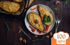 Фото рецепта: «Баклажаны, фаршированные брынзой и творогом»