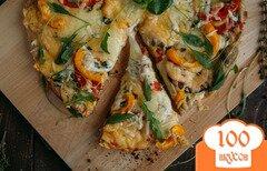 Фото рецепта: «Вегетарианская пицца с баклажанами»
