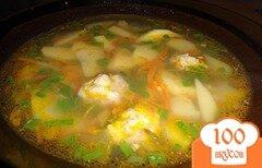 Фото рецепта: «Гречневый суп с фрикадельками»