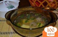 Фото рецепта: «Суп с говяжими фрикадельками и болгарским перцем»
