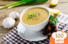 Фото рецепта: «Чесночный суп-пюре с имбирём от простуды»