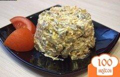 Фото рецепта: «Салат из печени с морковью и луком»