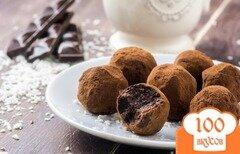 Фото рецепта: «Шоколадные конфеты из фиников с кокосом»