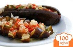 Фото рецепта: «Квашеные баклажаны с капустой»