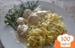 Фото рецепта: «Курочка под соусом Бешамель со спагетти»