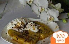 Фото рецепта: «Жареные бананы с мороженым»