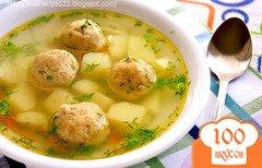 Фото рецепта: «Суп с рыбными фрикадельками»