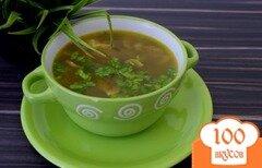 Фото рецепта: «Гречневый суп с грибами на курином бульоне»