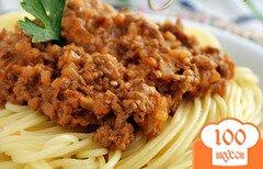 """Фото рецепта: «Спагетти с соусом """"Болоньез"""" по-новому»"""