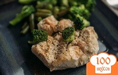 Фото рецепта: «Быстрый рецепт запекания филе индейки с овощами»