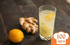 Фото рецепта: «Имбирный чай с лимоном»