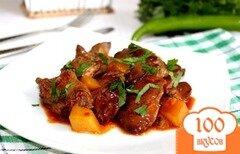 Фото рецепта: «Куриная печень в кисло-сладком, остром, томатном соусе»