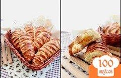 Фото рецепта: «Булочки с творогом и персиком»