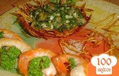 Фото рецепта: «Креветки в зеленом соусе»