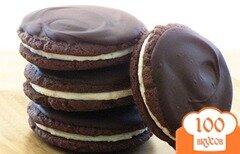 Фото рецепта: «Печенье-сэндвичи с шоколадом»