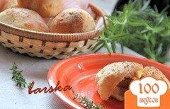 Фото рецепта: «Творожные булочки с финиками в беконе»