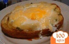 Фото рецепта: «Печёная картошка с яйцом и зеленью»