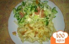 Фото рецепта: «Хрустящий жаренный картофель в мультиварке»