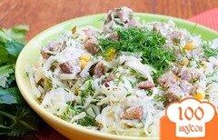 Фото рецепта: «Салат с сухариками»