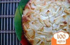 Фото рецепта: «Сметанный пирог с яблоками»