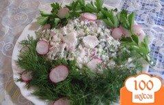 Фото рецепта: «Творог со сметаной, редисом и зеленью»