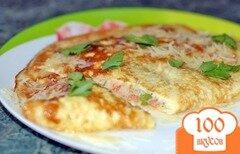 Фото рецепта: «Омлет с помидорами»