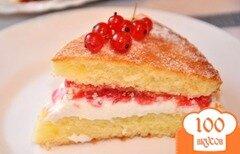 """Фото рецепта: «Торт """"Виктория"""" или """"Викторианский бисвит""""»"""