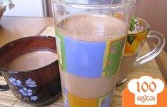 Фото рецепта: «Коктейль молочный шоколадно - ореховый»