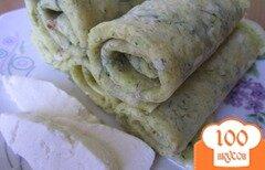 Фото рецепта: «Блинчики рисовые с адыгейским сыром»