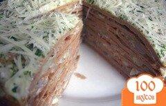 Фото рецепта: «Печеночный торт»