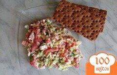 """Фото рецепта: «Салат """"Прелесть"""" с овощами и сыром»"""