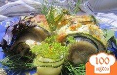 Фото рецепта: «Рулеты из рыбы и кабачков»