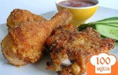 Фото рецепта: «Хрустящая жареная курица»