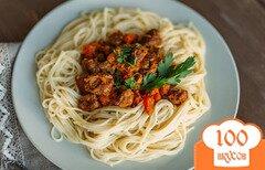 Фото рецепта: «Спагетти с тушеной говядиной»