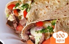 Фото рецепта: «Вегетарианская шаурма»