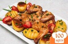 Фото рецепта: «Запеченная курица с картофелем.»