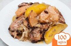 Фото рецепта: «Курица тушеная с картошкой в духовке»