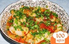 Фото рецепта: «Овощное рагу с баклажанами. Тушеные баклажаны»