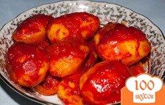 Фото рецепта: «Картошка в духовке с томатной пастой»