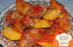 Фото рецепта: «Картошка тушеная с курицей»