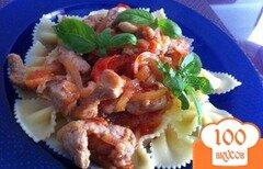 Фото рецепта: «Свинина а-ля бефстроганов в томатном соусе»