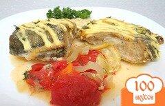 Фото рецепта: «Треска с овощами запеченная в горчичном соусе»
