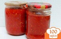 Фото рецепта: «Аджика из помидоров яблок и перца»