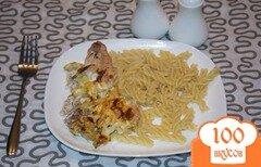 Фото рецепта: «Индейка с кабачком и луком, запеченная в духовке»