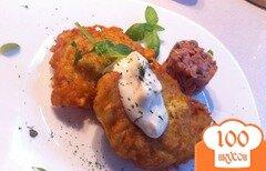 Фото рецепта: «Картофельные оладьи с тартаром из лосося»